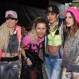 Edwina Tops-Alexander et Charlotte Casiraghi lors de l'épreuve Style & Sport Competition for AMADE au troisième jour du Gucci Paris Masters à Villepinte le 6 décembre 2014