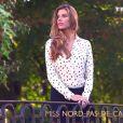 Camille Cerf (Miss Nord-Pas-de-Calais) lors de la cérémonie de Miss France 2015 sur TF1, le samedi 6 décembre 2014.