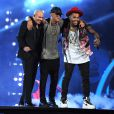 Wisin performs with Chris Brown and Pitbull onstage during 15th Annual Latin Grammy Awards at the MGM Grand Garden Arena on November 20, 2014 in Las Vegas, NV, USA. Photo by Frank Micelotta/PictureGroup/ABACAPRESS.COM21/11/2014 - Las Vegas
