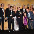 Le casting de Modern Family aux Screen Actors Guild Awards à Los Angeles, le 18 janvier 2014.