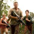 Shailene Woodley, Theo James et Ansel Elgort dans Divergente 2 : L'Insurrection.