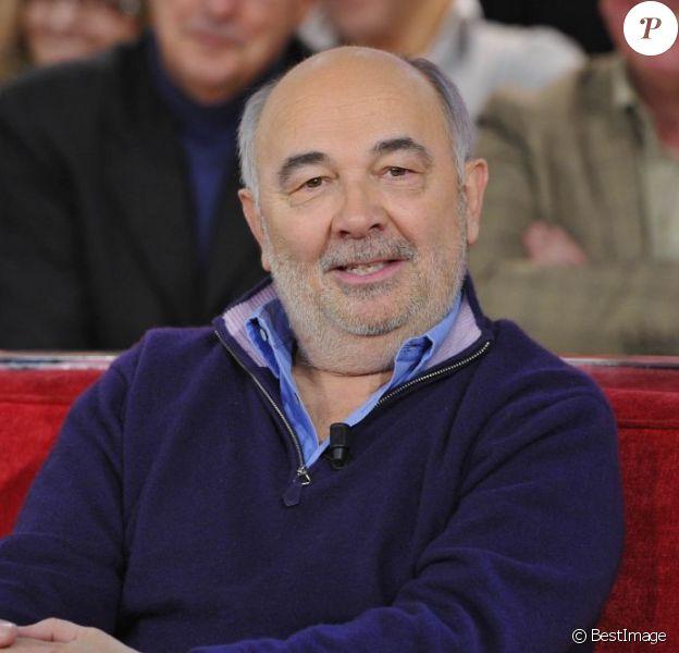 """Gérard Jugnot lors de l'enregistrement de l'émission """"Vivement Dimanche"""" à Paris le 16 Janvier 2013"""