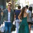 Jonathan Rhys-Meyers et sa girlfriend à  West Hollywood, Los Angeles, Cle 11 août 2014.