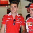 Fernando Alonso et Jules Bianchi lors du Grand Prix d'Espagne à Barcelone, le 10 mai 2014