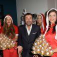 Bernard Montiel - Inauguration du Concept Store Leica à Paris, rue Faubourg Saint-Honoré le 18 décembre 2014