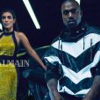 Kanye West et Kim Kardashian sont les stars de la campagne masculine printemps-été 2015 de Balmain. Photo par Mario Sorrenti.