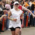 Jennifer Lopez pendant le triathlon de LA