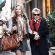 Penny Lancaster et Rod Stewart à Rome le 6 décembre 2014