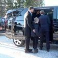 Le roi Harald V de Norvège, la reine Sonja, le prince Haakon, la princesse Mette-Marit, la princesse Ingrid Alexandra et le prince Sverre Magnus assistaient le 25 décembre 2014 à la traditionnelle messe de Noël en l'église d'Holmenkollen, à Oslo.