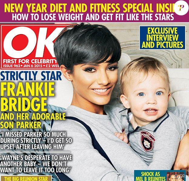 """Frankie Bridge en couverture de """"OK! Magazine"""" - décembre 2014"""