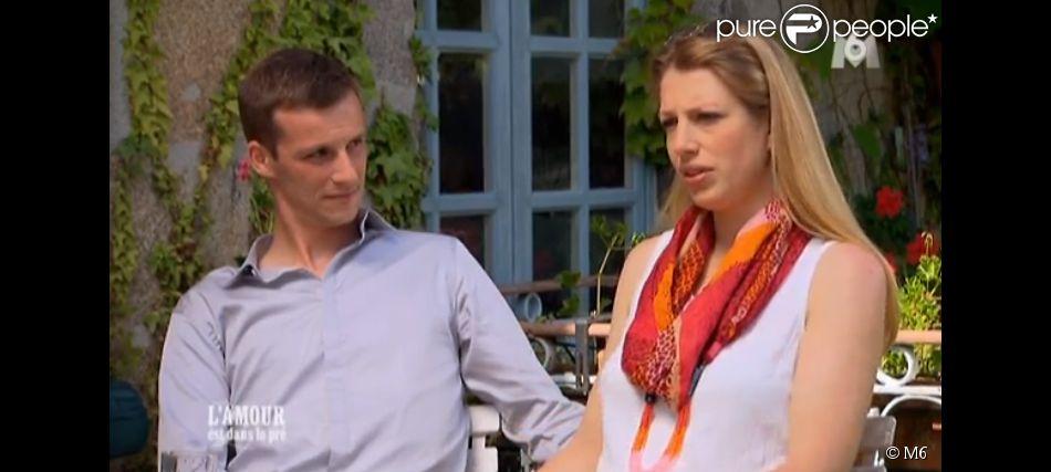 """Emeline et Aurélien - """"L'amour est dans le pré 2014"""" sur M6. Première partie du bilan. Le 8 septembre 2014."""