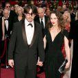 Johnny Depp et Vanessa Paradis à Hollywood, le 24 février 2008.