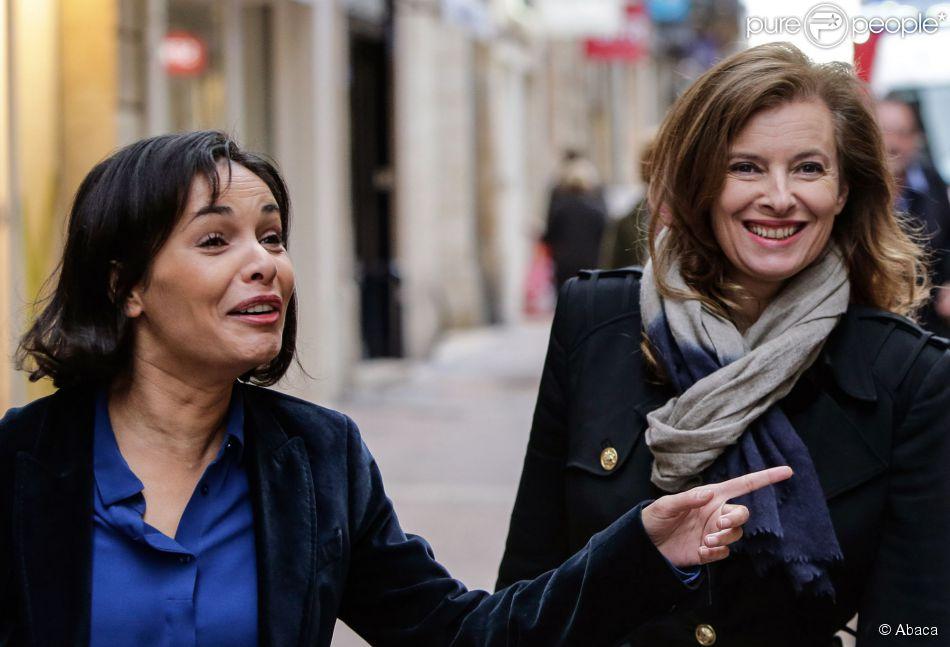 Valerie Trierweiler et Saida Jawad à Bordeaux, le 15 novembre 2014.