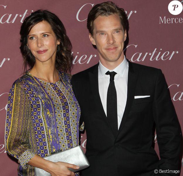 """Benedict Cumberbatch et sa fiancée Sophie Hunter lors de la 26e soirée annuelle des """"Palm Springs International Film Festival Awards"""" à Palm Springs, le 3 janvier 2015."""