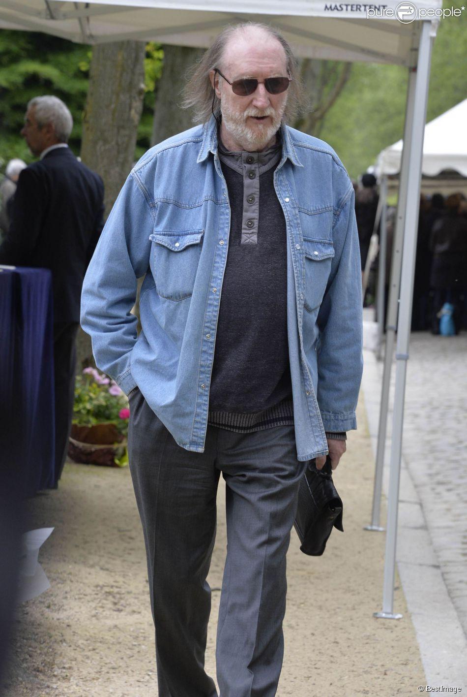 François Corbier - Obsèques de Georges Moustaki au Père-Lachaise à Paris. Le 27 mai 2013.
