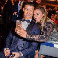 Cristiano Ronaldo et Marta Vieira da Silva - Gala FIFA Ballon d'Or 2014 à Zurich, le 12 janvier 2015.