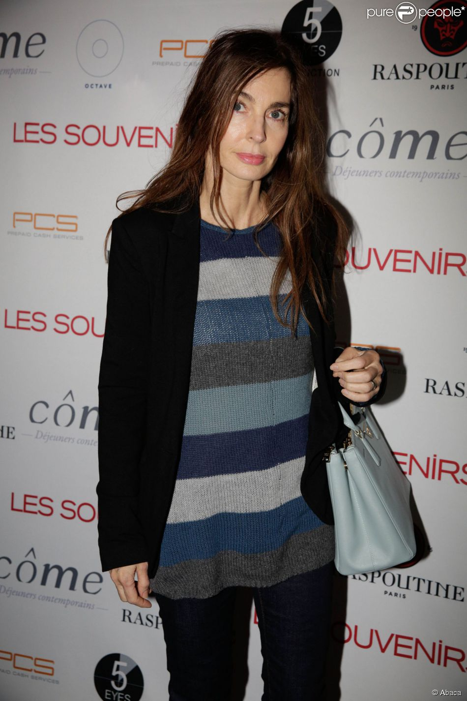 Anne Parillaud à la soirée du film Les Souvenirs à la boîte de nuit Le Raspoutine à Paris. Le 12 janvier 2015.