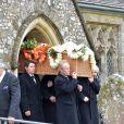 Obsèques de Mark Shand, frère de la duchesse Camilla Parker Bowles, à Stourpaine le 1er mai 2014 dans le Dorset