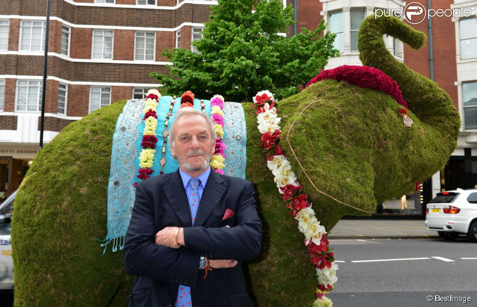Mark Shand, frère de Camilla Parker Bowles, à Londres en mai 2013, lors du lancement du Elephant Family's 'Animal Ark 2014, Sloane Street Chelsea London Mark Shand