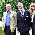 Mark Shand, frère de la duchesse Camilla Parker Bowles, à Goodwood avec le prince et la princesse Michael de Kent en juillet 2012