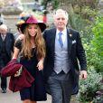 Mark Shand, frère de la duchesse Camilla Parker Bowles, en septembre 2011 avec sa fille Ayesha lors d'un mariage