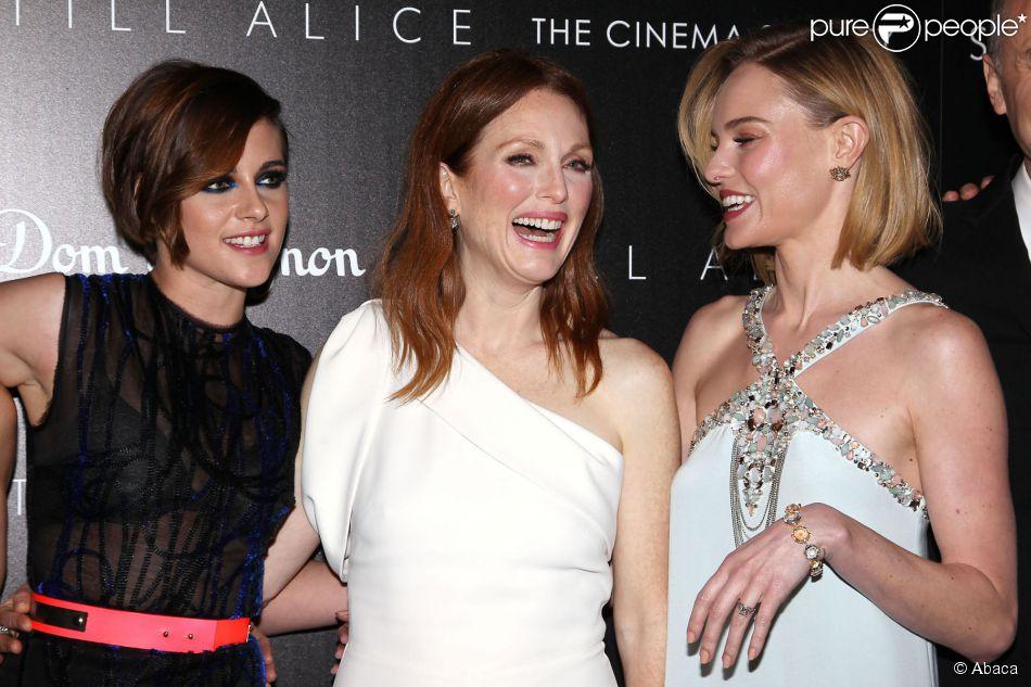 Kristen Stewart, Julianne Moore, Kate Bosworth - la projection du film Still Alice à New York le 13 janvier 2015