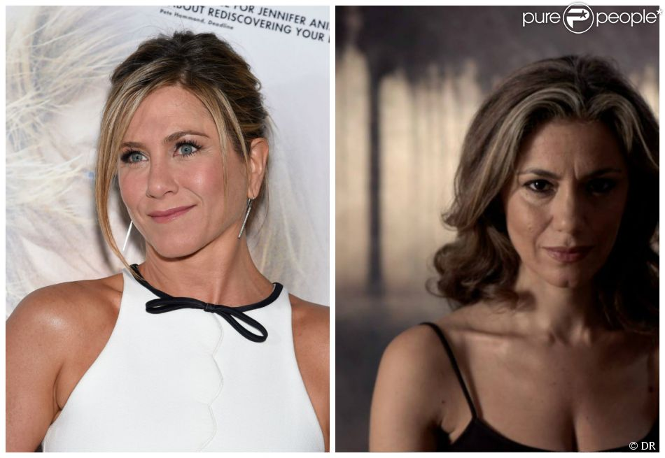 Jennifer Aniston (photo Abaca du 14 janvier 2015) face à Mujah Maraini-Melehi (photo Facebook), veuve de Daniel McDonald.