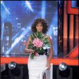 Whitney Houston sur le plateau de l'émission X Factor Italy le 21 novembre 2009