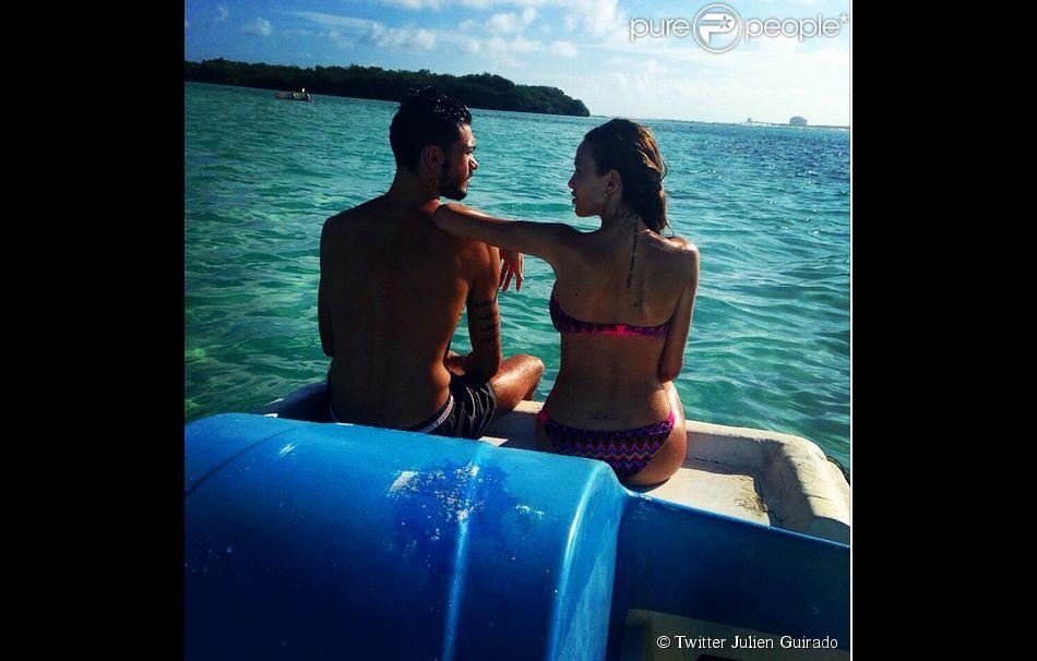 Vanessa Lawrens et Julien Guirado : Amour et bronzette à Punta Cana, en janvier 2015