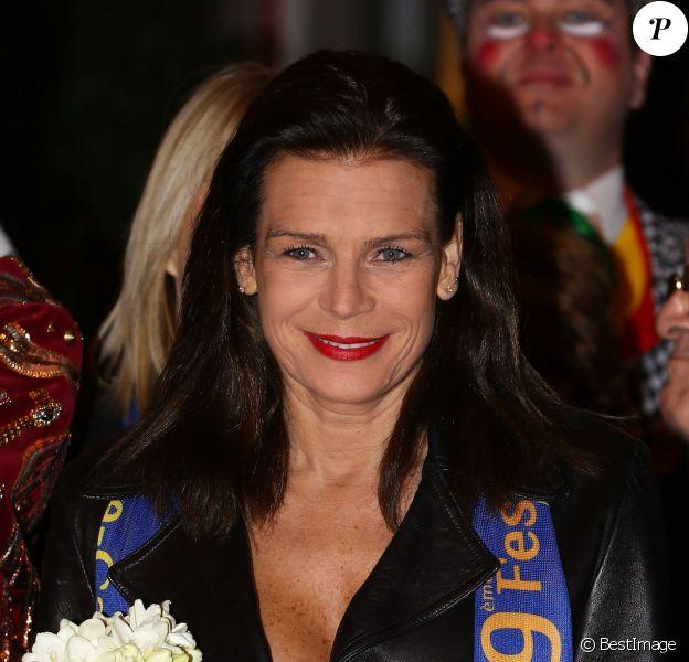 La princesse Stéphanie de Monaco à la 3e soirée du 39e Festival International du Cirque de Monte-Carlo au Chapiteau de Fontvieille, le 17 janvier 2015 à Monaco.