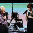 """Exclusif - Charles Aznavour et Zaz - Enregistrement de l'émission """"Hier Encore"""" à l'Olympia, qui sera diffusée en prime time sur France 2 le 17 janvier 2015"""