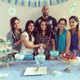 Booba et Patricia Cerqueira, entourée de sa famille, célèbrent leur baby-shower. Photo publiée le 19 janvier 2015.
