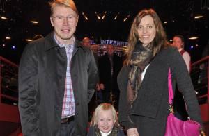 Mika Häkkinen : Avec sa belle Marketa et leur fille pour une sortie au cirque