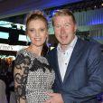 Mika Häkkinen et sa jolie compagne Marketa Kromatova lors de la soirée de la Coupe des Présidents Hermès Eagle 2013 à Bad Griesbach le 14 septembre 2013