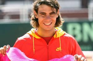 REPORTAGE PHOTOS : Rafael Nadal, une nouvelle tenue... rose fluo !