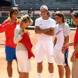 Rafael Nadal entre dans l'arène pour la demi-finale de Coupe Davis