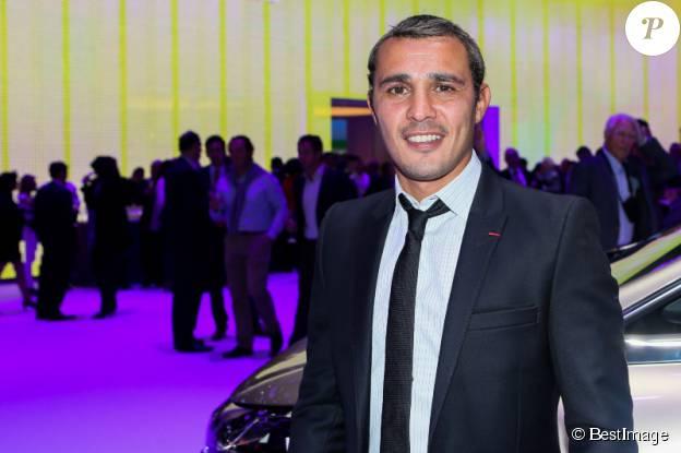 Brahim Asloum au salon de l'automobile de Paris le 2 octobre 2014. ©BESTIMAGE