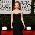 Jessica Chastain lors des Golden Globes le 12 janvier 2014
