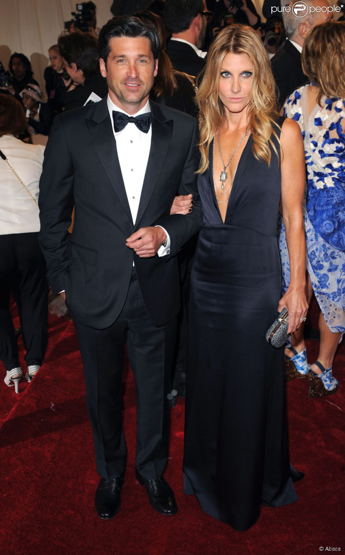 Patrick Dempsey et sa femme Jillian au met à New York le 2 avril 2011. Le couple a annoncé en janvier 2015 son divorce, après 15 ans de mariage.