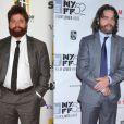 Zach Galifianakis le 26 octobre 2010 lors des Hollywood Awards et le 11 octobre 2014 lors du New York Film Festival (photomontage)