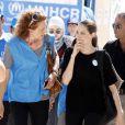 Angelina Jolie est allée à la rencontre des réfugiés dans un camp de Mafraq, en Jordanie, le 11 septembre 2012.