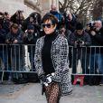 Kris Jenner arrive au défilé Haute Couture Chanel Spring-Summer 2015 le 27 janvier 2015