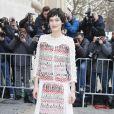 Clotilde Hesme arrive au défilé Haute Couture Chanel Spring-Summer 2015 le 27 janvier 2015