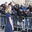 Dylan Frances Penn arrive au défilé Haute Couture Chanel Spring-Summer 2015 le 27 janvier 2015
