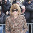 Anna Wintour arrive au défilé Haute Couture Chanel Spring-Summer 2015 le 27 janvier 2015