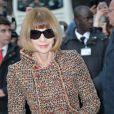 Anna Wintour - arrive au défilé Haute Couture Chanel Spring-Summer 2015 le 27 janvier 2015