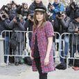 """Ana Girardot - Arrivées au 2ème défilé de mode """"Chanel"""", collection Haute Couture printemps-été 2015/2016, au Grand Palais à Paris. Le 27 janvier 2015"""