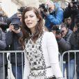 """Anna Mouglalis - Arrivées au 2ème défilé de mode """"Chanel"""", collection Haute Couture printemps-été 2015/2016, au Grand Palais à Paris. Le 27 janvier 2015"""