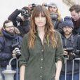 """Caroline de Maigret - Arrivées au 2ème défilé de mode """"Chanel"""", collection Haute Couture printemps-été 2015/2016, au Grand Palais à Paris. Le 27 janvier 2015"""