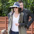 Cobie Smulders et Taram Killam avec leur fille Shaelyn à Los Angeles, le 23 mars 2014.